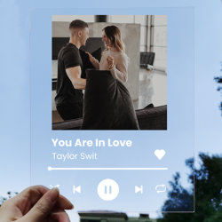Placa de la película personalizado de impresión UV acrílico Placa de la canción del álbum