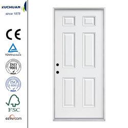 Portello d'acciaio americano innescato bianco dei portelli del metallo di Kuchuan 6-Panel