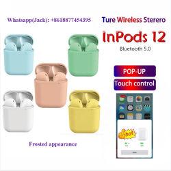 I12 Inpods 12 V5.0 Aanraking Tws met Popup Draadloze Oortelefoon I12 Tws van de Controle van de Aanraking Earbuds van de Hoofdtelefoons van het Venster Ware Draadloze Stereo