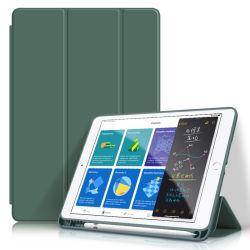 Estojo de couro para iPad 4 Ar Folip inteligente suporte de tampas de slot da caneta para iPad PRO 11
