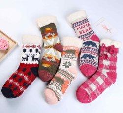 Commerce de gros Hiver doux confortable en microfibre floue chaussettes pour les femmes