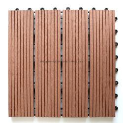 Venda por grosso de materiais compósitos à prova de ladrilhos em material de construção WPC azulejos em deck