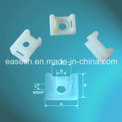 Fijación por tornillo nylon PA66 Bases de sujeción de cables con UL