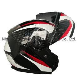 Shell ABS Moto plegable Modular visera doble casco FMVSS-218 y puntos de las normas de seguridad