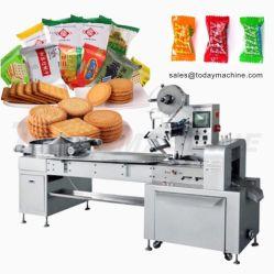 Het Verpakkende Koekje van de Machine van de Koekjes van de verpakkende Machine op de Verpakkende Machine van de Stroom van de Koekjes van de Sandwich van de Verpakkende Machine van de Rand zonder Dienblad