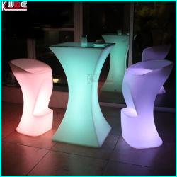 다색 LED 조명 칵테일 테이블 바, 조명 하이 바 테이블