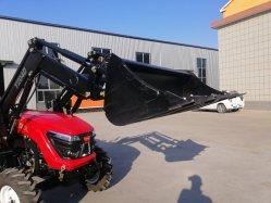 미니 팜 트랙터 휠 트랙터 정원 트랙터(전방 로더/백호/플라우/트레일러 포함 60hp