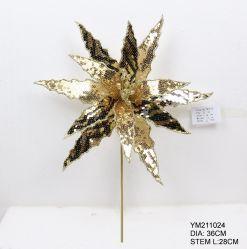 Best verkopende artikelen Groothandel verwerking op maat handgemaakte Kerst Decoratie Artificial Bloem