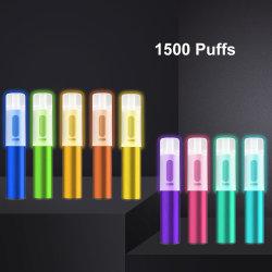 パフ XXL 1600 E タバコの点滅するライト・喫煙パイプ E-CIG スモークジュース液体電子気化器ディスポーザブルベペペン