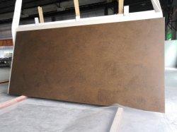 부엌 싱크대 제작 물자 지면 도와 환상 화강암 싱크대를 위한 브라운 가죽 완료 설계되는 제조하는 인공 석영 돌