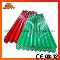 Material de construcción PPGI Prepintado Galvalume de color PPGL PPGI recubierto de galvaje Az120 Metal Corrugated Profile Acero techo/cubierta de techo