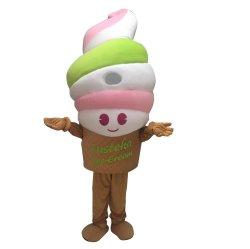 Jolie mascotte de crème glacée Personnage Personnalisé Costume de marche