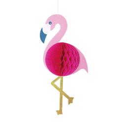 Rose rose de l'événement Fetival Flaminggo Honeycomb Décoration de papier
