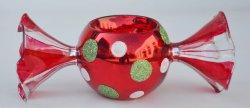 Creative bougeoir de Noël en verre en forme de bonbons