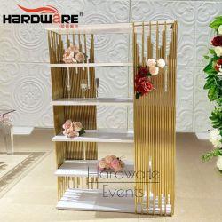 Nuevo evento de diseño del bastidor de acero inoxidable de estante de pared de la barra de MDF