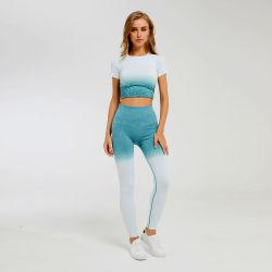 Camisetas de entrenamiento y transpirable para las mujeres Gimnasio Tops ropa deportiva