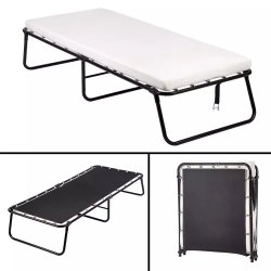 Beedroom Büro-Hotel-Möbel-MetallFoldaway Rahmen-Schaumgummi-Matratze-faltendes Großhandelsbett