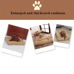 Gli animali domestici #Bed, stuoia del tessuto di Lamb+Suede del cane possono essere smontati per pulizia 0124