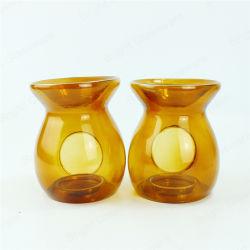 촛불 아로마 홀더 향기오일 황색 유리 왁스 보온기 버너 홈 장식을 위한