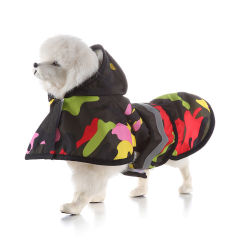 Nuevo diseño de moda ropa de mascota perro impermeable impermeable transpirable capa de lluvia perro ropa ropa para perros con encapuchado1 Comprador