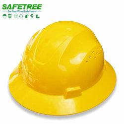 Pleine Brim Hard Hat la norme ANSI Z89.1 Type I Classe E, G, C Safety Hat
