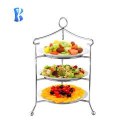 Banco di mostra del buffet della torta dell'alto tè dell'acciaio inossidabile di Okey bello da vendere