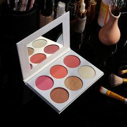 Lisa OEM 3 cores de alta pigmentação Makeup Blusher Fosco irreverente de rosto