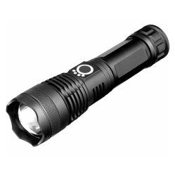 Ultraheldere Tactical Flashlight, High Lumens T6 LED Handheld Flashlight met 5 lichtmodi, zoombaar, waterbestendig, voor binnen- en buitengebruik