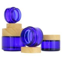 Lege verpakking 2oz 2oz 150 ml 200 ml Scrub Jar ronde vorm Matgroene plastic beker met bamboe deksel