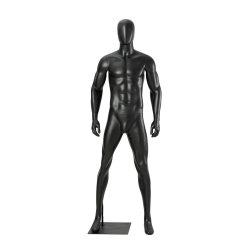 Fibra de vidro preto macho do músculo de corpo inteiro manequim para exibição de vestuário de desporto