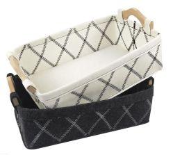 Felted 저장 바구니 또는 2 바탕 화면 저장 바구니 또는 휴대용 가재도구 수송용 포장 상자 또는 주문을 받아서 만들어진 로고 저장 상자