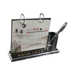 Calendario de acrílico Stand titular de la pluma de suministros de oficina Escritorio Pantalla