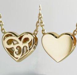 Mode Sieraden Double Side Heart Shape ketting 925 Sterling Silver Ketting
