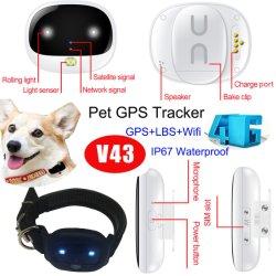 IP67 imprägniern Haustier 4G GPS-Nautiker-System mit langen Arbeitsstunden V43