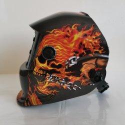安価な安全溶接マスク、ソーラー電動アーク MIG 電子産業保護最良の溶接ヘルメットの自動減光