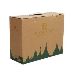 Aangepaste drukkerij Kleur Recycle Gold foil Kraft Paper Golftransport Verpakking van kartonnen dozen met handvat
