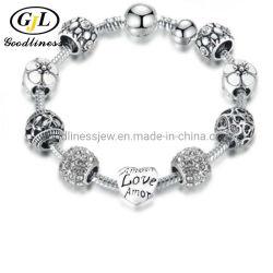 2021 Weihao Hot Vente Dernières Fashion Bracelet perlé diamant Rose Bracelet Fille de lettrage coeur