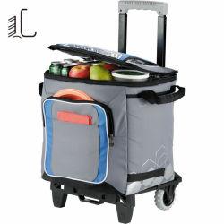 Sacchetto inossidabile resistente durevole del dispositivo di raffreddamento di picnic di corsa del carrello di alta qualità