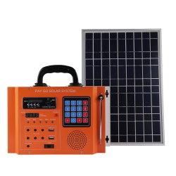 بطارية ليثيوم بقوة 40 واط بقوة 20 أمبير في الساعة 11.1 فولت أثناء استخدام الطاقة الشمسية نظام الإضاءة طقم الراديو المنزلي للطاقة الشمسية