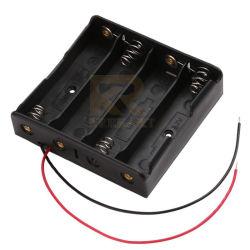 Plastique noir 18650 Li-ion 4 cellules de batterie titulaire * 3.7 avec fils