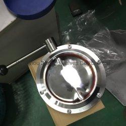 Продовольствия из нержавеющей стали марки сварные соединения двухстворчатый клапан с красной силиконовой прокладкой (Ин-BV1001)