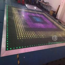 Романтическая свадебная Оборудование портативных панели RGB 3в1 привело акрилового покрытия пола видео