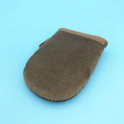 Protezione auto-abbronzante Mini Tan facciale in microfibra con guanti in velluto MITT