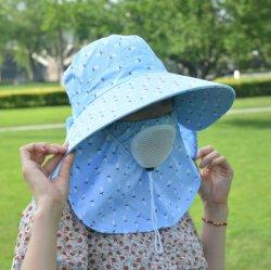Frauen Outdoor Sommer Sonnenhut UV-Schutz breite Krempe faltbar Safari Angelkappe