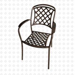 Литой алюминиевый стул для использования вне помещений стул сад стул сварной шов соткать кресло