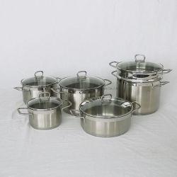 Artigos de cozinha de aço inoxidável Acessórios Nonstick Panelas Definir Frypan Wok caçarola