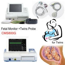 Contec Cms800gの超音波の胎児のモニタの専門家のプリントが付いている妊娠したCfgの心拍数の探知器