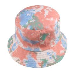 El verano empate teñido de la moda de la cuchara plegable Hat hombres y mujeres protector solar al aire libre del degradado de color de la cuchara Reversible Hat Men's Casual de Caza Pesca Hat