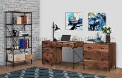 Casa de madera Muebles de oficina Color Nogal Escritorio Mesa ejecutiva