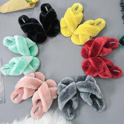 Women's Pantoufles Chaussures chaudes en hiver Mesdames Indoor Chaussures Maison Flip Flop Slipper Commerce de gros